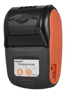 Goojprt Pt -210 Portátil Térmico Impresora Handheld Naranja