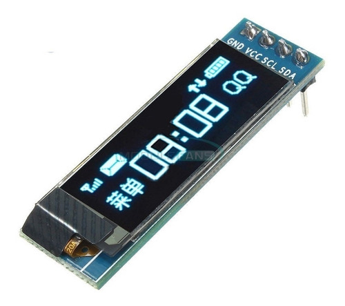 Display Pantalla Oled Lcd 128x32 Arduino Inter I2c Azul 0.91