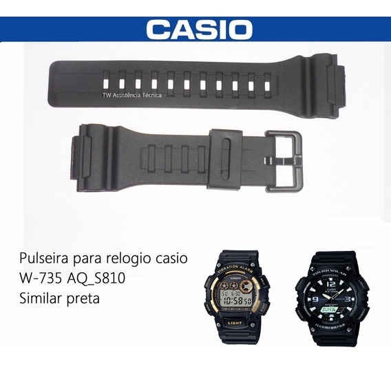 Pulseira P/ Casio W-735 Aq-s810 Aeq-110bw Similar
