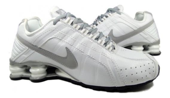 Tenis Nike Shox Junior Cinza E Branco Nº40 Original Na Caixa
