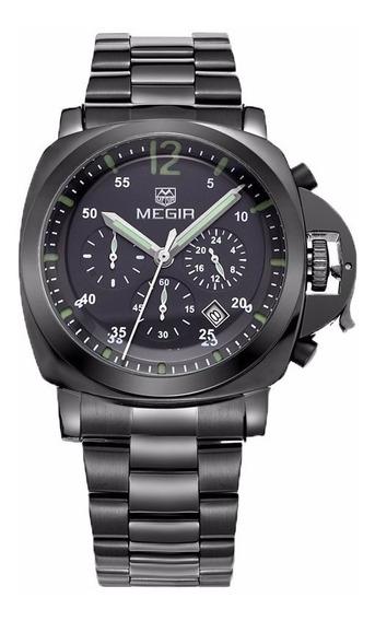 Reloj Cronografo Megir Modelo 3006byi - Original