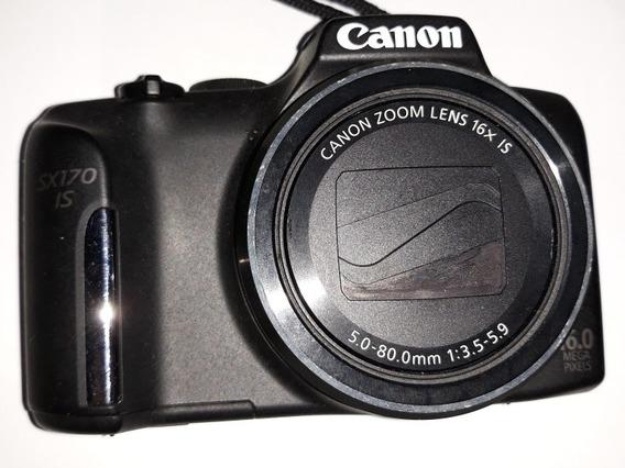 Câmera Canon Sx170is Perfeito Estado Sem Bateria Carregador