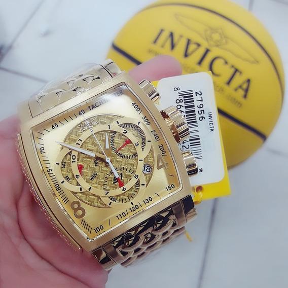 Relógio Invicta 27956 Dourado Ouro 18k Aço Inox - S1 Rally