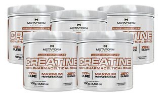 Combo Atacado 5x Creatine 100% 100g - Metaform Nutrition