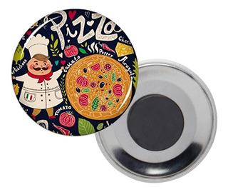 Botón Publicitario Pin Magnetico 5,5 Cm,. Americano
