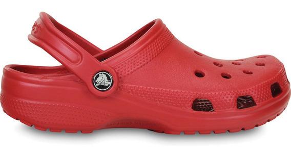 Crocs Originales Classic Rojo Unisex Hombre Mujer