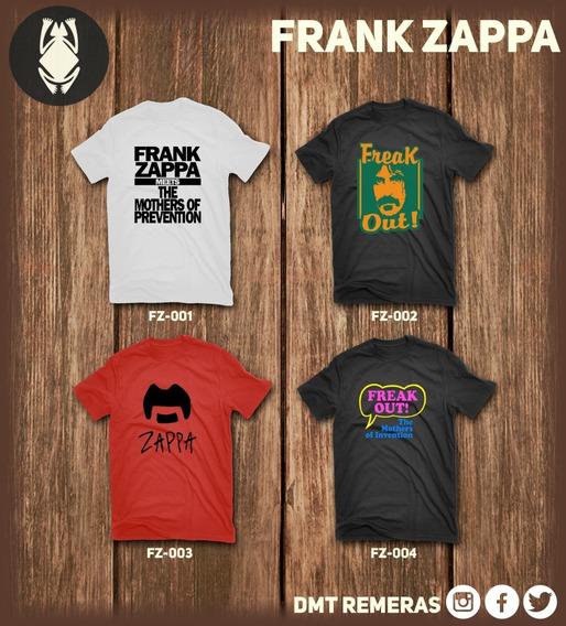Remeras Frank Zappa - Estampadas Con Vinilo Importado