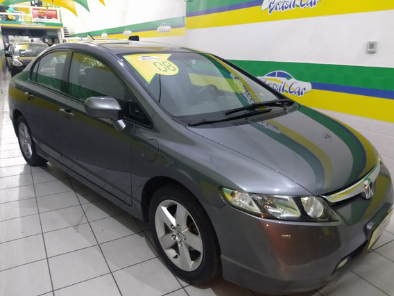 Honda Civic 1.8 Lxs Flex 2008 Cambio Manual Grupo Brasil