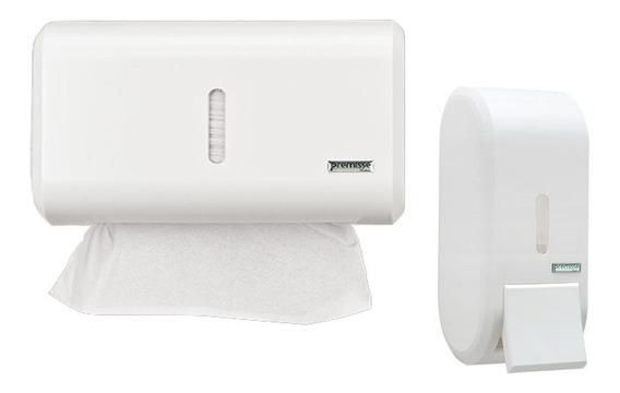 Porta Papel Toalha E Saboneteira Liquido Dispenser Banheiro
