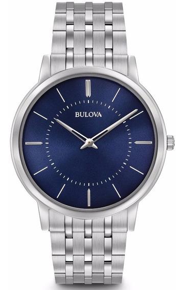 Relógio Bulova Masculino Slim Wb22436f Azul 96a188