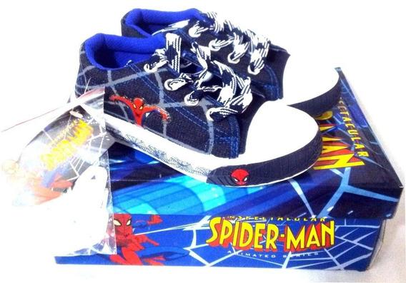 Zapatos Spiderman Talla 32 33 Tipo Convers S14
