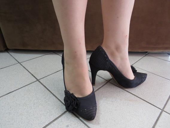 2 Sapato Feminino Santa Lolla E Bottero Salto N°37 Seminovos