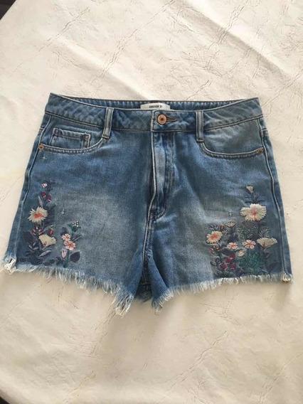 Bermuda Jeans Forever 21 Nunca Usada Tam. 27 (38 Brasil)