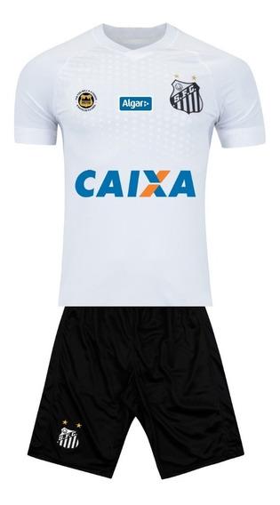 Uniforme Infantil Santos Peixe Futebol Brasileirão