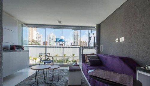 Imagem 1 de 15 de Spotligth Campo Belo, Mobiliado, Novo, 70 M² 2 Dormitórios, 1 Suítes, 1 Vaga. - Cf61398