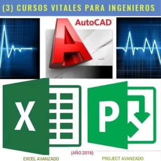 Paquete De 3cursos + 3certificados: Autocad, Excel Y Project