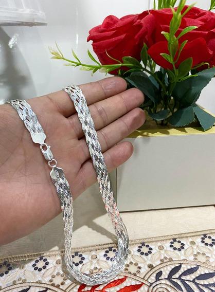 Colar Feminino 6 Fios 45cm Prata 925 Italiana Legitima+brind