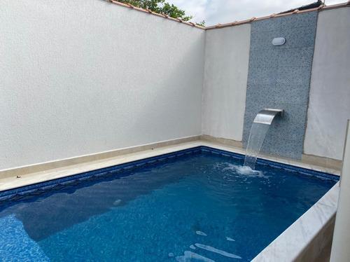 Imagem 1 de 14 de Casa Em Mongaguá, Com Piscina 50mts Do Mar ! Ref.: 8542 E