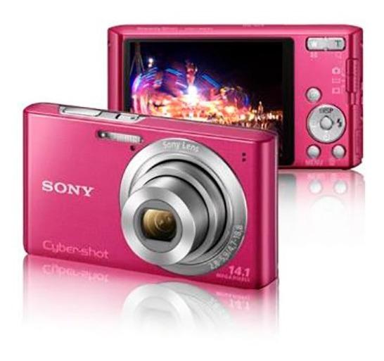 Câmera Digital Sony Cyber-shot Rosa Dsc W610 14.1 Megapixels