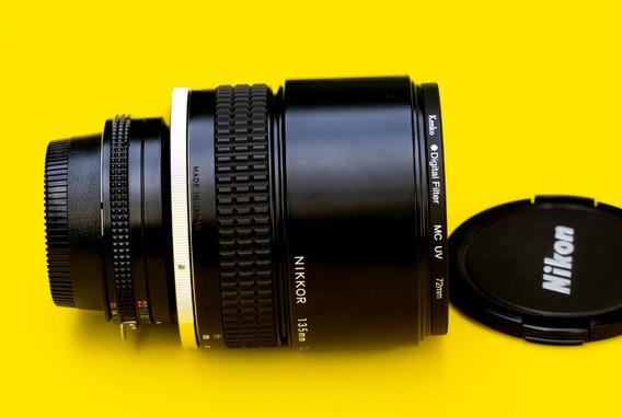 Nikon Lente 135mm F2 Ai S