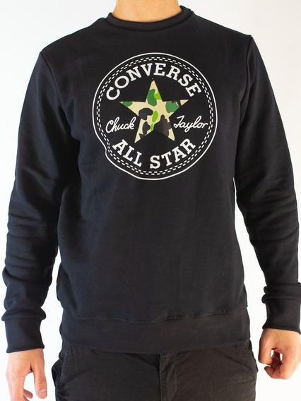 Buzo Converse Estrella Camo Negro Hombre Rcmdr