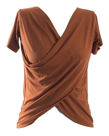 Blusa Transpassada Feminina T-shirt Camiseta Moda #082