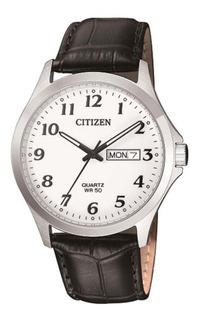 Reloj Citizen Bf5000-01a Acero Cuero Wr50 Jr
