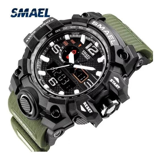 Relógio Smael Militar Analógico Digital Original Prova Dágua Promoção
