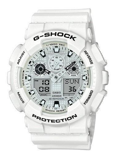 Relógio Casio G-shock Masculino Branco Ga-100mw-7adr