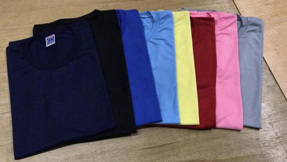 Kit 10 Camisetas Masculinas Blusa Camisas Malha Lisa Básica