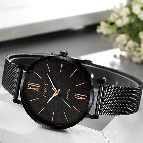 Relógio Feminino Quartzo Preto