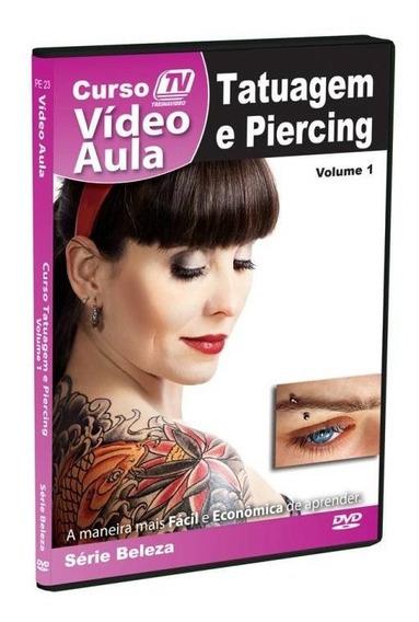 Dvd Tatuagem E Piercing Videoaula Original + Brinde