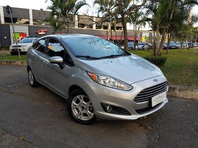 Ford New Fiesta Sedan 1.6 Se Automatico Prata Unico Dono