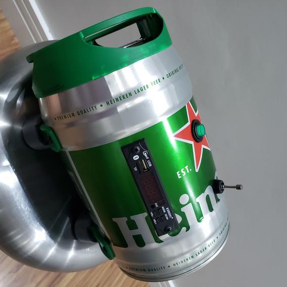 Caixa Som Mp3 Bluetooth Fm Cartão - Barril Heineken - Fonte