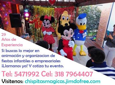 Fiestas Infantiles Chispitas Magicas 29 Años De Experiencia