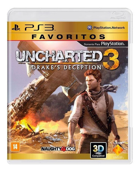 Uncharted 3 Drakes Deception Ps3 Mídia Física Novo Lacrado