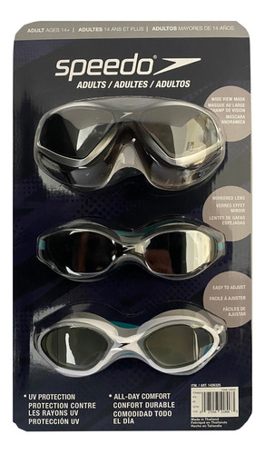 Gafas De Natacion Speedo Adulto, Originales, Set X 3