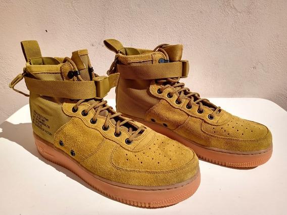 Nike Air Force 1 Desert Moss 10.5 Excelente Estado!
