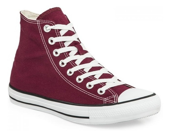 Botitas Converse All Star Bordo Blanco Nuevo Color Temporada