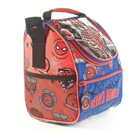 Lunchera Vianda Termica Escolar Spiderman 3d Oficial Lelab