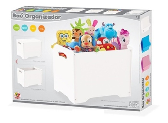 Caixa Estante Porta Treco Infantil Bau Organizador Brinquedo