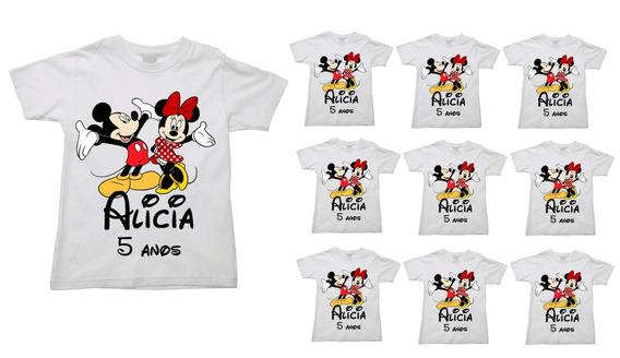 Kit 10 Camisetas Mickey Familia Aniversário