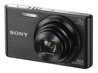 Camara Sony Dsc-w830 20.1 Mpx Videohd Negra 16gb+funda Grati