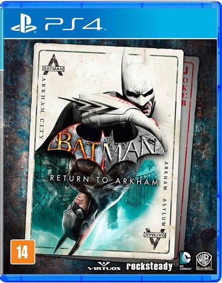 Batman Return To Arkham Ps4 Mídia Física Lacrado 12x S/juros