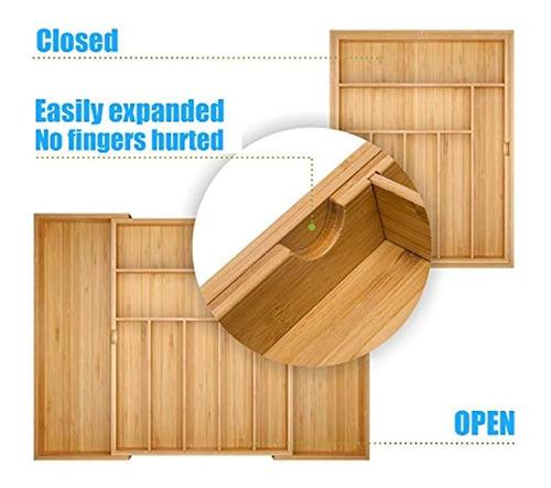 Hamonical + Cocina + Bambu + Cajon + Organizador, + Cubert