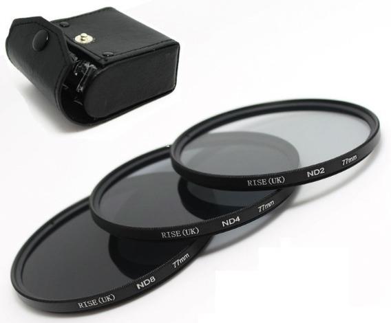 Kit 77mm Filtro Nd2 + Nd4 + Nd8 + Case Canon Nikon Sony