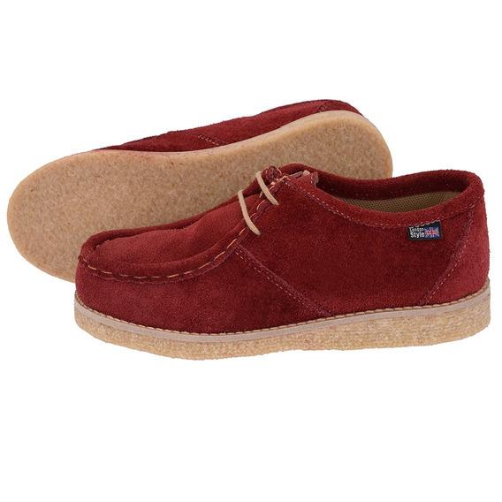 Sapato Em Solado Goma(crepe) Couro Camurça Estilo London