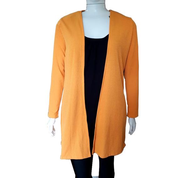 Blusa De Frio Feminina Plus Size Casaco Longo Maxi Cardigan