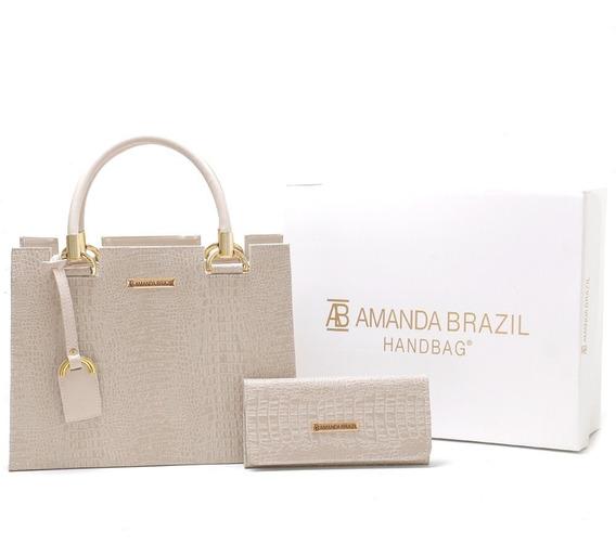 Bolsa Amanda Brazil Material Croco Original