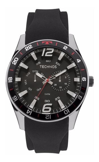 Relógio Technos Masculino Racer 6p25bn/8p Aço Analogico